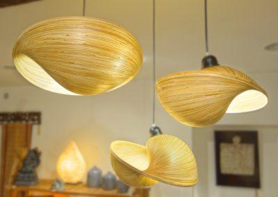 Lampes Ombak Bambou Suspension