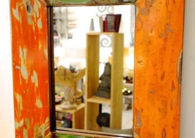 Miroir Prao, chutes pirogues, 40x50