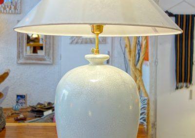Lampe Vase, finition craquelé