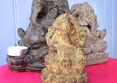 Ganeshas en pierre reconstituée, différentes tailles