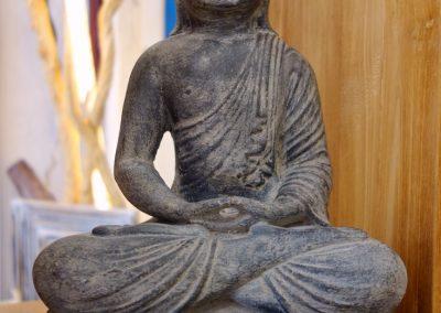 Buddha mudra Méditation, Pierre reconstituée
