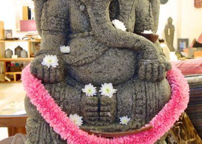 Ganesha Pierre Volcanique 1m20 Face