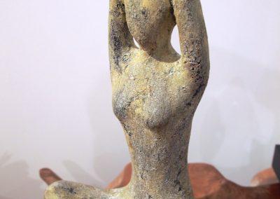 Femme Yogi, Terracota, 60 cm de haut
