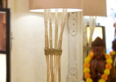 Lampe Kopi Pohon, bois de caféier