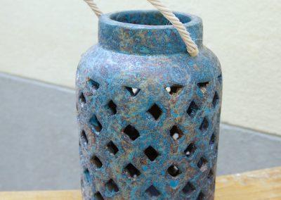 Lanterne Milky L, Terracota, 45 cm