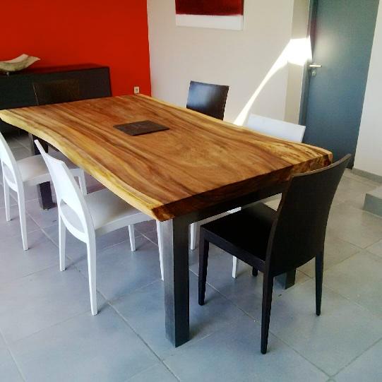 plateau table bois de suar manijao. Black Bedroom Furniture Sets. Home Design Ideas