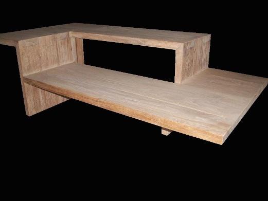 table basse decal teck manijao. Black Bedroom Furniture Sets. Home Design Ideas