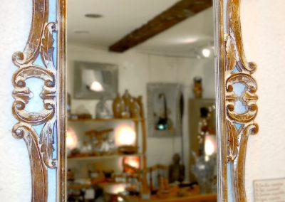 Miroir Surya, Bois de durian 120x80