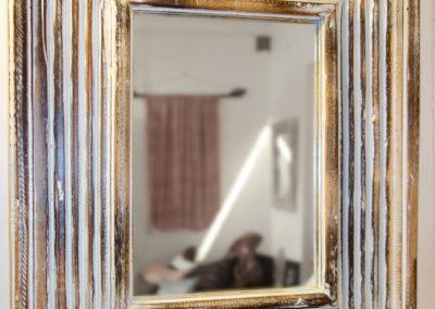 Miroir Modern, bois de Durian, 50x60