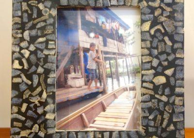 Cadre-photo, incrustation Corail Bleu,  25x30