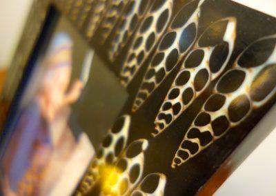 Cadre-photo, incrustation Coquillage,  25x30, détail