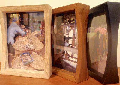 Cadre-photos, Teck massif,  19,5x14,5