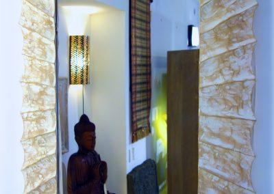 Miroir Matahari, 100x70, bois de Durian,