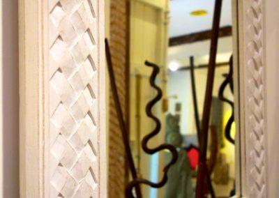 Miroir Tresse, 100x70, bois de Durian