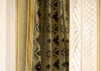 Miroir Epi, 100x70, bois de Durian,
