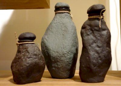 Ensemble Fioles à Huiles, Terre volcanique, 3 tailles différentes