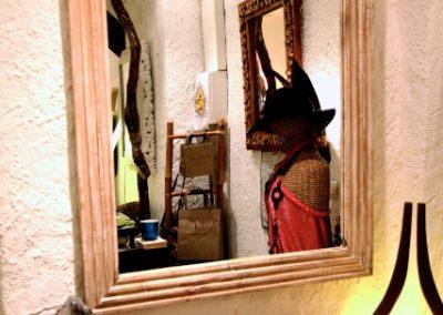 Miroir Modern, 100x70, bois de Durian