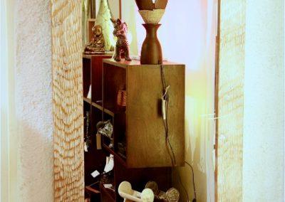 Miroir Griffe, 100x70, bois de Durian