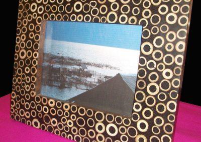Cadre-photo, incrustation Bambou,  25x30