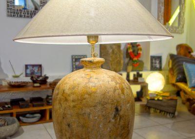 Lampe Vase, finition Gold Antik