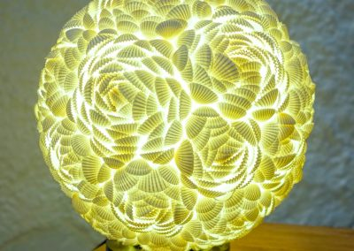 Lampe Boule Coquillages