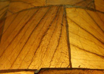 Lampe Pillar L, 1 case détail abat jour feuilles de maïs
