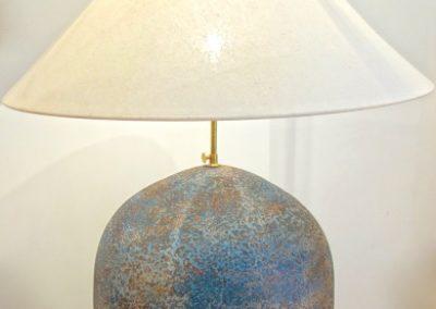 Vase Pot, finition Blue Burn