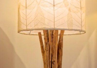 Lampe Kopi, abat jour feuilles de Buddha