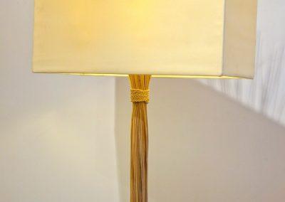 Lampe Fagot Rattan