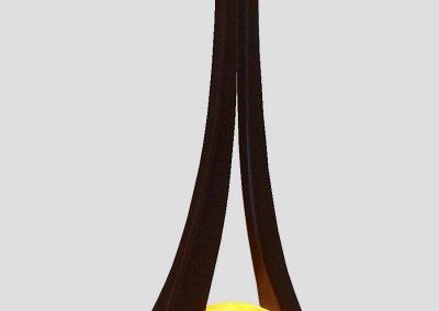 Lampe Diapason 83 cm, noir