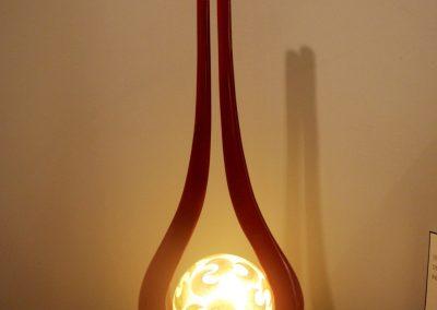 Lampe Diapason 83 cm, rouge