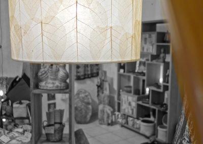Lampe Penjor, abat jour feuilles de Buddha