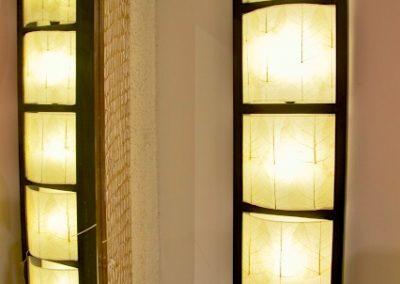 Applique pillar 5 cases, feuilles de Buddha