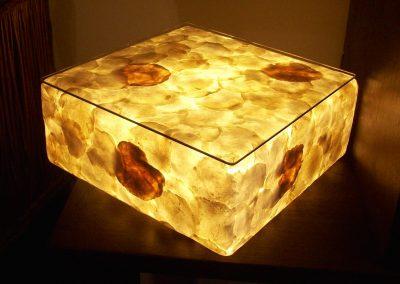 Lampe Cube Capiz