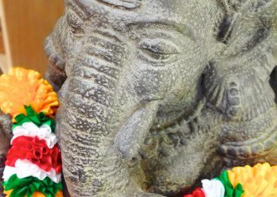 Ganesha, pierre reconstituée 65 cm, profil