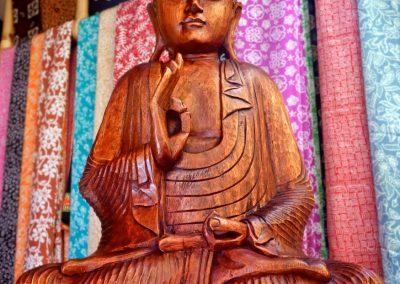 Buddha Enseignement, 60 cm, bois de Suar