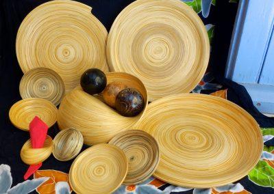 Ensemble plats, lamelles de Bambou