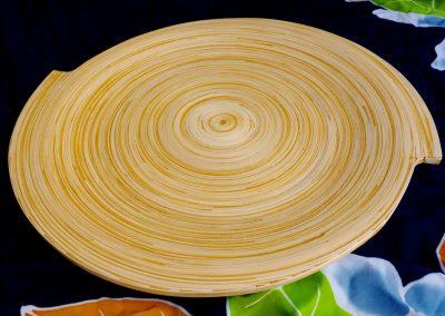 Plat Spiral, Bambou, 35 cm diamètre