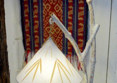 Lampe Pipa, feuilles de riz