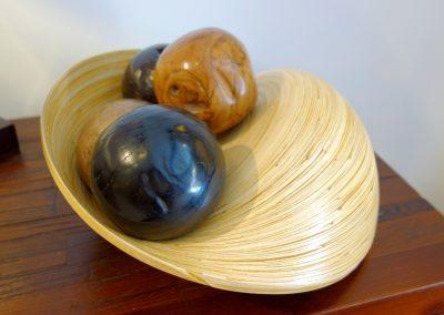 Coupe Ombak, bambou, 30 cm diamètre