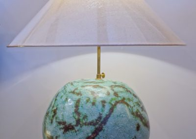 Lampe boule, Terracota