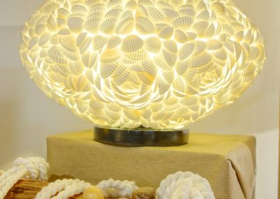 Lampe Shell, coquillages, forme Orbit