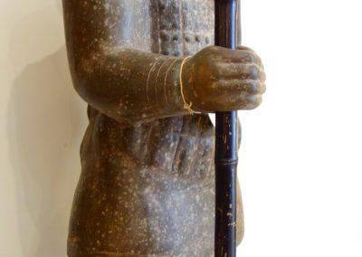 Guerrier Javanais et sa lance, terra-cota, 100 cm