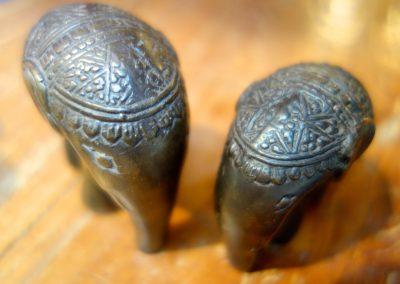 Eléphants Bronze, 8 et 6 cm