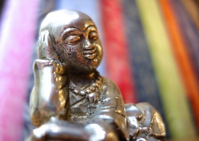 Shaolin penseur, bronze 10 cm