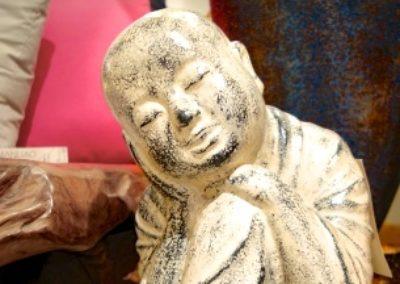 Shaolin sur son rocher, Terracota, 60 cm