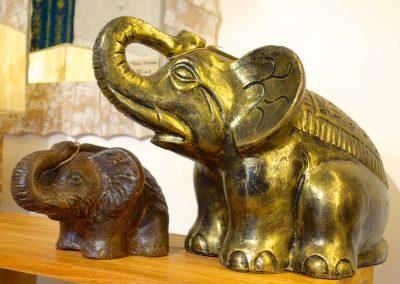Eléphants, Terracota, 20 et 55 cm