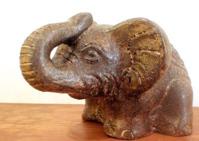 Eléphant, Terracota, 20 cm