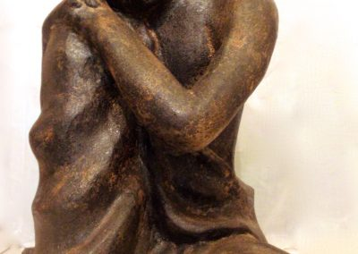 Buddha Siddharta penseur, Terracota, 1m