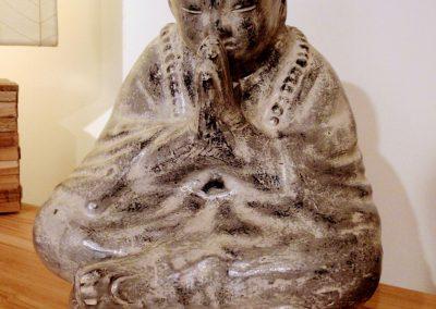 Shaolin Salut, Terracota, 35 cm